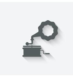 gramophone music design element vector image vector image
