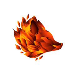 icon of decorative fox head vector image