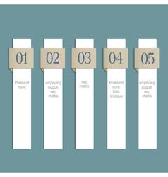 Modern infographics white web design template vector image