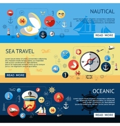 Nautical Banner Set vector image vector image