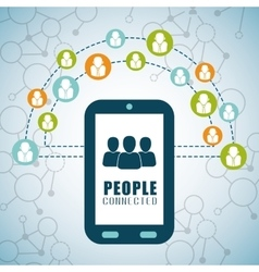 People connection design social network icon vector