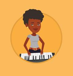 woman playing piano vector image vector image