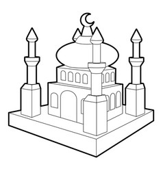 arabic town icon outline style vector image vector image