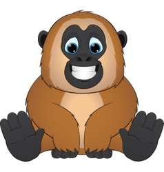 cute monkey vector image vector image