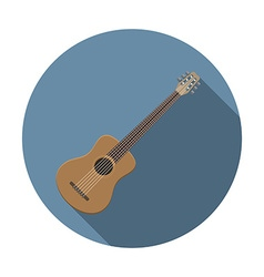 Flat design modern of acoustic guitar icon music vector image vector image