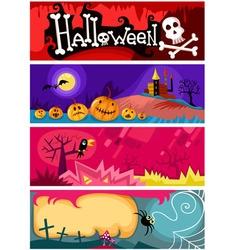hallowen card set vector image vector image