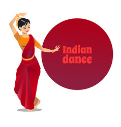Indian dance in cartoon style vector
