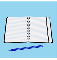 office notebook with pen vector image