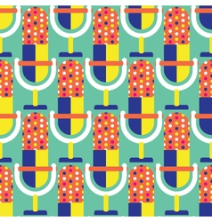 Seamless Microphone Pattern Music vector image vector image