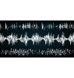 Sound wave on a dark background vector image vector image