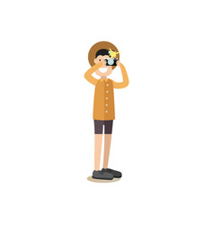 tourist people in flat style vector image vector image