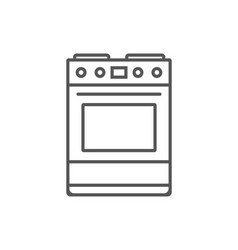 gas stove isolated icon in linear style vector image