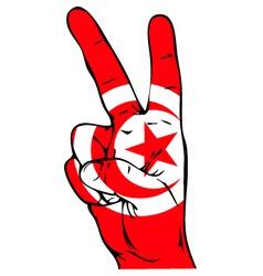 Peace Sign of the Tunisian flag vector image vector image