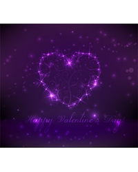 purple valentine background vector image vector image