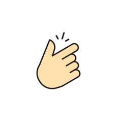Snap of fingers icon isolated on white vector image vector image