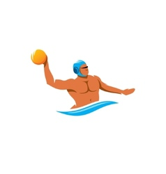 Water polo player sign vector image