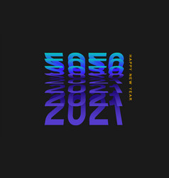 2021 lettering with flip text effect vector image