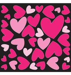 abstract pink hearts vector image