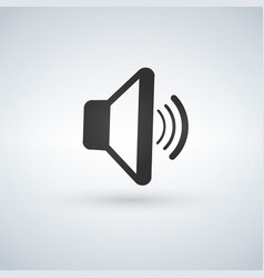 audio speaker volume or music speaker volume on vector image