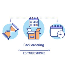 Back ordering concept icon product ordering idea vector