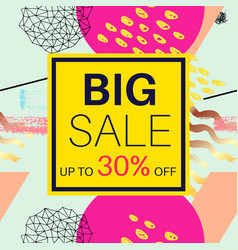 big sale banner for online shopping with discount vector image