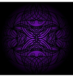 Black lace on violet vector image
