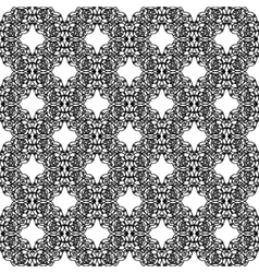 Black openwork pattern vector image