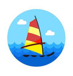 Board windsurfing icon summer vacation vector