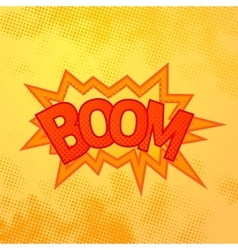 boom comics sound effect with halftone pattern vector image