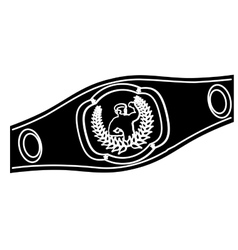 Boxing belt icon vector