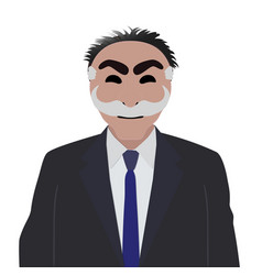 Businessman in a suit with anonymous mask on a vector