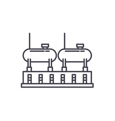 chemical production line icon concept chemical vector image