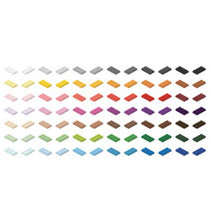 children brick toy simple colorful bricks 4x2 low vector image