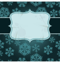 Christmas background with snowflakes in retro vector image