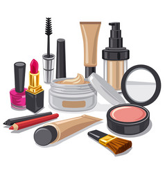 cometics and make up collection vector image