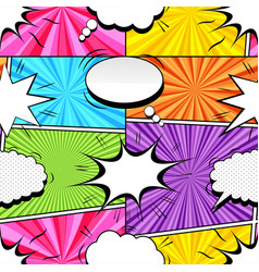Comic colorful explosive seamless pattern vector