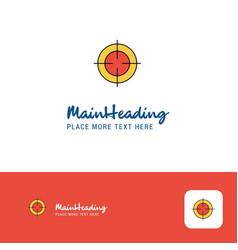 creative focus logo design flat color logo place vector image