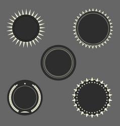 dark round seal frames set vector image
