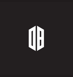db logo monogram with hexagon shape style design vector image