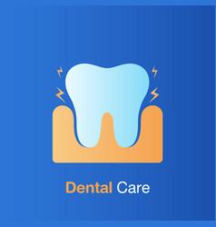 Dental care concept bad hygiene teeth prevention vector