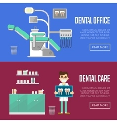 Dental office and care templates vector image