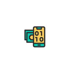 digital icon design e-commerce icon design vector image