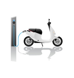 Electric scooter for sharing vector