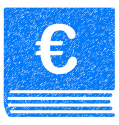 Euro sales book grunge icon vector