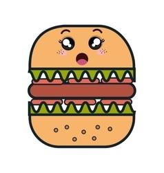 fast food kawaii style vector image