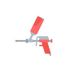 flat a paint gun vector image