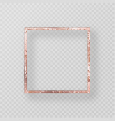 Gold frame with a grunge texture vector
