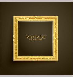Golden vintage luxury frame design vector