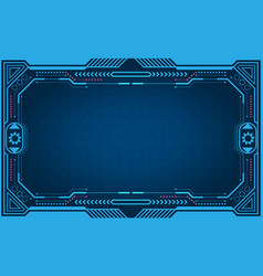 graphical presentation computer panel frame vector image