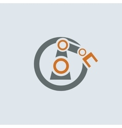 Gray-orange Automation Round Icon vector